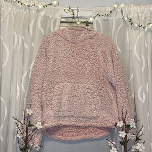 Pink fluffy hoodie :)